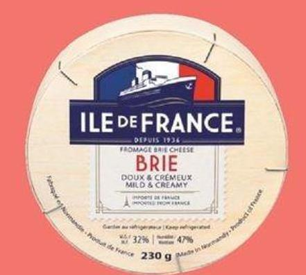 Agropur Ile De France Brie Or Camembert - 230 g