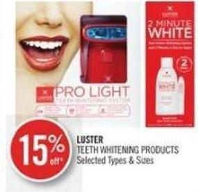 Luster Teeth Whitening Products