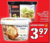 Nestlé Real Dairy Or Irresistibles Ice Cream Or Novelties