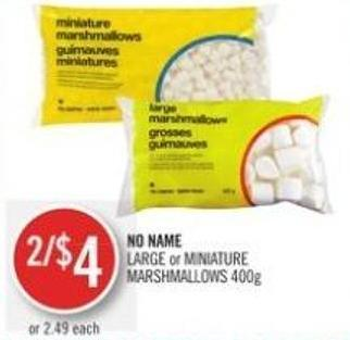 No Name Large or Miniature Marshmallows 400g