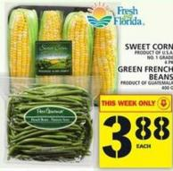Sweet Corn Or Green French Beans