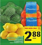 Lemons Or Avocados Or Clementines