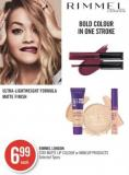 Rimmel London Stay Matte Lip Colour or Makeup Products