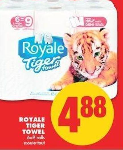 Royale Tiger Towel - 6=9 Rolls