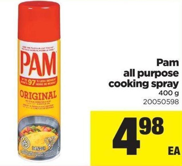 Pam All Purpose Cooking Spray - 400 G