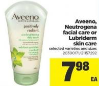 Aveeno - Neutrogena Facial Care Or Lubriderm Skin Care