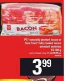 PC Naturally Smoked Bacon Or Free From Fully Cooked Bacon - 65-500 g
