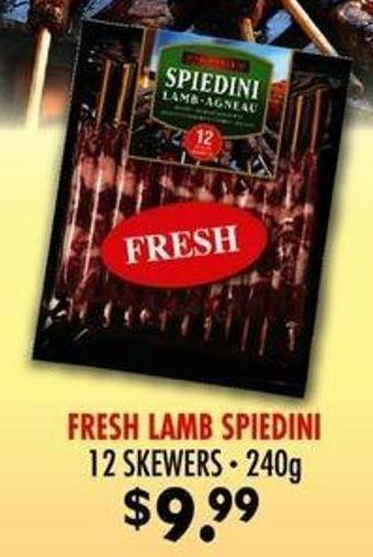 Fresh Lamb Spiedini - 240 G