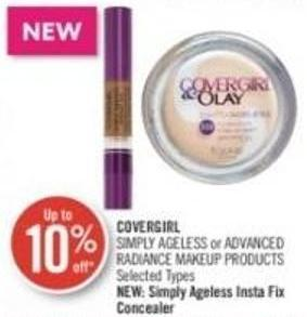 Covergirl Simply Ageless or Advanced Radiance Makeup Products