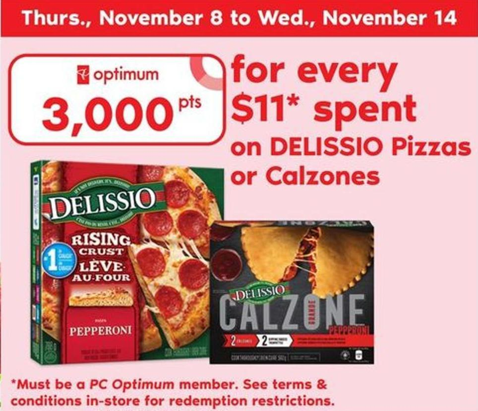 Delissio Pizzas Or Calzones