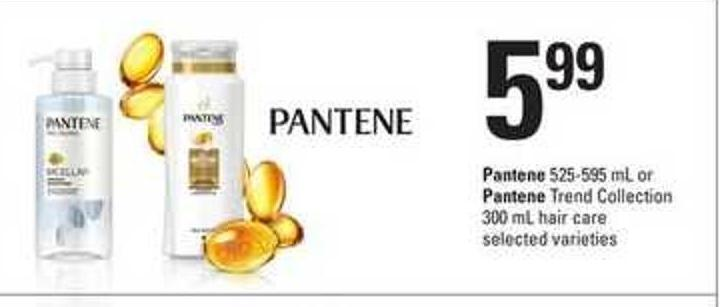 Pantene - 525-595 Ml Or Pantene Trend Collection - 300 Ml Hair Care