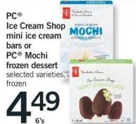 PC Ice Cream Shop Mini Ice Cream Bars Or PC Mochi Frozen Dessert - 6's