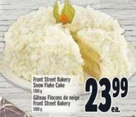 Front Street Bakery Snow Flake Cake