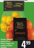 Farmer's Market Lemons - 2 Lb Or Navel Oranges - 3 Lb