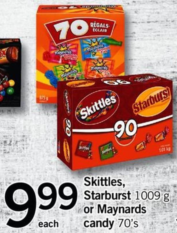 Skittles - Starburst - 1009 G Or Maynards Candy - 70's