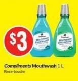 Compliments Mouthwash 1 L