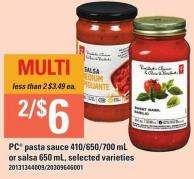 PC Pasta Sauce - 410/650/700 Ml Or Salsa - 650 Ml