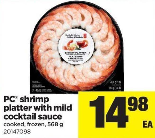PC Shrimp Platter With Mild Cocktail Sauce 568 g