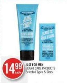 Just For Men Beard Care Products