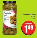Compliments Olives 375 mL