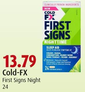 Cold-fx First Signs Night 24