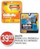 Gillette Fusion5 (12's) - Proshield or Proglide (8's) Cartridges
