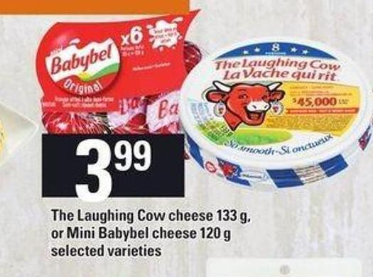 The Laughing Cow Cheese - 133 g - Or Mini Babybel Cheese - 120 g