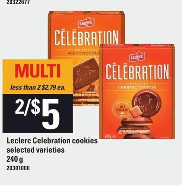 Leclerc Celebration Cookies - 240 g