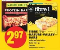 Fibre 1 or Nature Valley Bars - 125-191 g