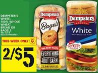 Dempster's White - 100% Whole Wheat Bread Or Bagels