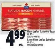 Maple Leaf Or Schneiders Bacon - 65/375 g