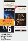 Lindt Excellence - 50-100 G