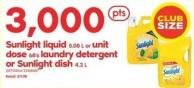 Sunlight Liquid - 5.08 L Or Unit Dose - 68's Laundry Detergent Or Sunlight Dish - 4.2 L