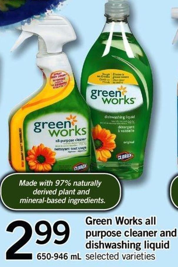 Green Works All Purpose Cleaner And Dishwashing Liquid - 650-946 mL