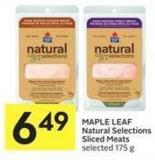 Maple Leaf Natural Selections Sliced Meats Selected 175 g