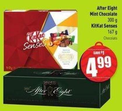 After Eight Mint Chocolate 300 g Kitkat Senses 167 g