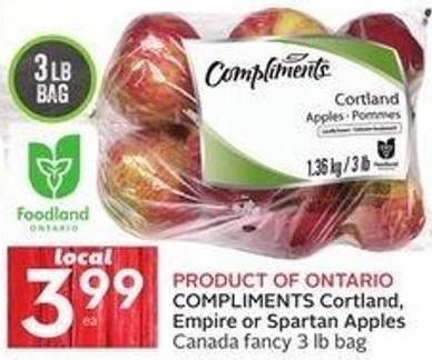 Compliments Cortland - Empire or Spartan Apples