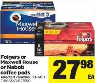 Folgers Or Maxwell House Or Nabob Coffee PODS - 50-60's