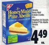 Christie Honey Maid Graham Crumbs 400 g