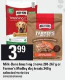 Milk-bone Brushing Chews - 201-267 G Or Farmer's Medley Dog Treats - 340 G