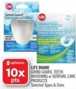 Life Brand  Grind Guard - Teeth Whitening or Denture Care Products