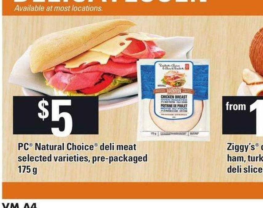 PC Natural Choice Deli Meat - 175 G