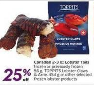 Toppits Canadian 2-3 Oz Lobster Tails