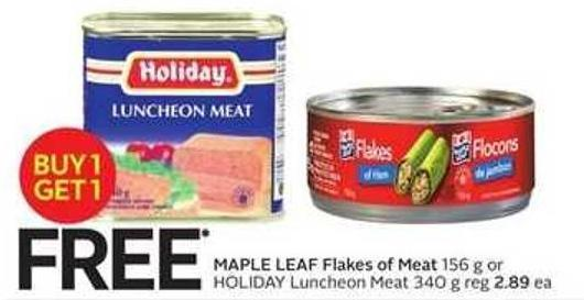 Maple Leaf Flakes of Meat