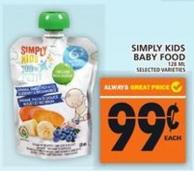 Simply Kids Baby Food