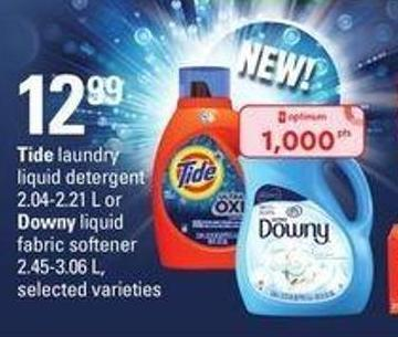 Tide Laundry Liquid Detergent 2.04-2.21 L Or Downy Liquid Fabric Softener 2.45-3.06 L