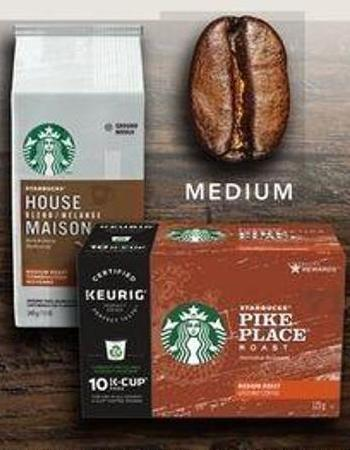 Starbucks K-cup PODS - 10 Count Or Starbucks Packaged Coffee - 340g