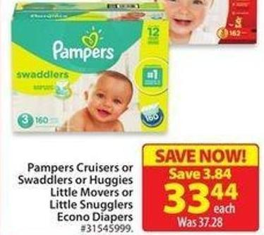 Pampers Cruisers Swaddlers Econo Diapers