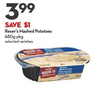 Reser's Mashed Potatoes 680g Pkg