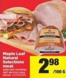 Maple Leaf Natural Selections Meat